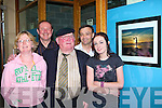 Maureen Kelliher Farranfore shows off her picture at the Killarney Camera Club photographic exhibition in the Killarney Outlet Centre on Friday evening l-r: Carmel Kelliher, Tadgh Kelleher, Jackie Healy Rae TD, Seamus Long and Maureen Kelliher    Copyright Kerry's Eye 2008