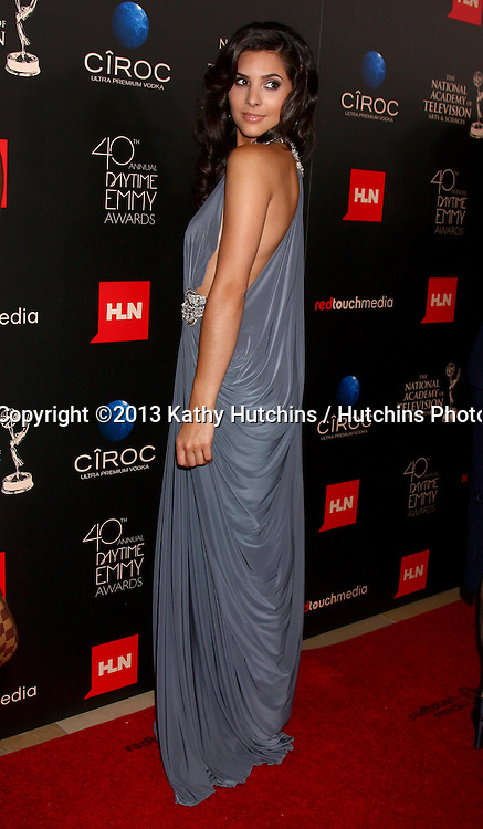 LOS ANGELES - JUN 16:  Camilla Banus arrives at the 40th Daytime Emmy Awards at the Skirball Cultural Center on June 16, 2013 in Los Angeles, CA