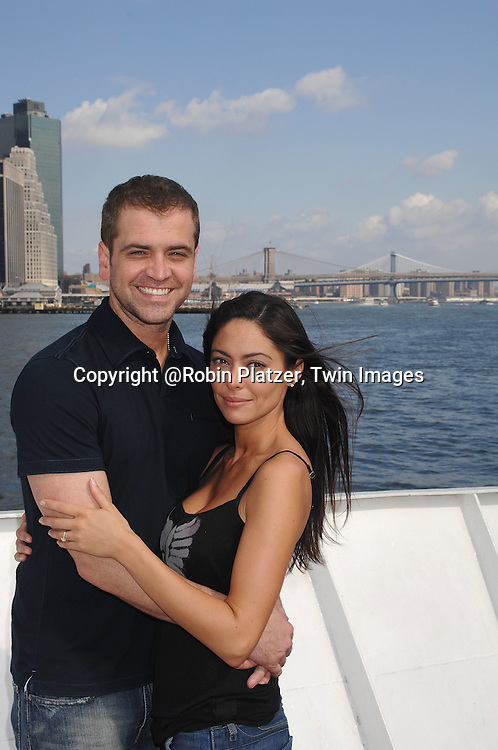 Jessica Leccia and fiance Brian Malloy..at The Ricky Paull Goldin Cruise on October 7, 2007 on..board The Spirit of the Hudson at Chelsea Piers. ....Photo by Robin Platzer, Twin Images....212-935-0770