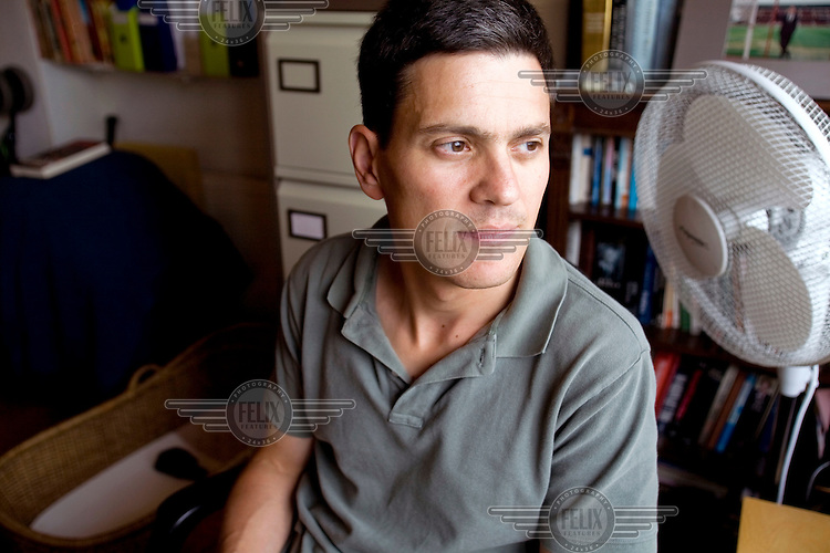David Miliband, British Foreign and Commonwealth Secretary, at his home in London.