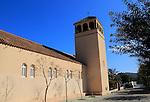 Church at Rodalquilar, Cabo de Gata natural park, Almeria, Spain