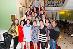 Margaret Raggett and Fiona Walsh from Tralee were celebrating their leaving from Clonfert Ward in the Kerry General Hospital surrounded by their friends in the Dromhall Hotel, Killarney last Friday night.