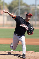 Jake Dunning #26 of the San Francisco Giants plays in a minor league spring training game against the Chicago Cubs at the Cubs minor league complex on March 29, 2011  in Mesa, Arizona. .Photo by:  Bill Mitchell/Four Seam Images.