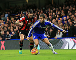 Chelsea's Eden Hazard tussles with Bournemouth's Charlie Daniels<br /> <br /> Barclays Premier League - Chelsea v AFC Bournemouth - Stamford Bridge - England - 5th December 2015 - Picture David Klein/Sportimage