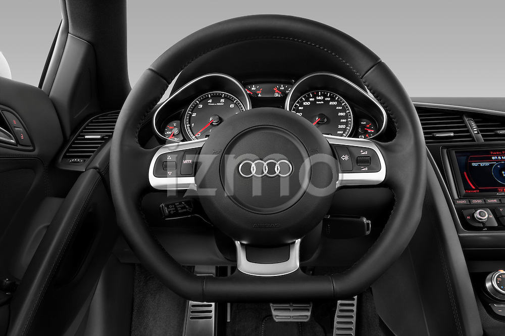 Steering wheel view of a 2008 - 2012 Audi R8 V8 FSI Coupe.