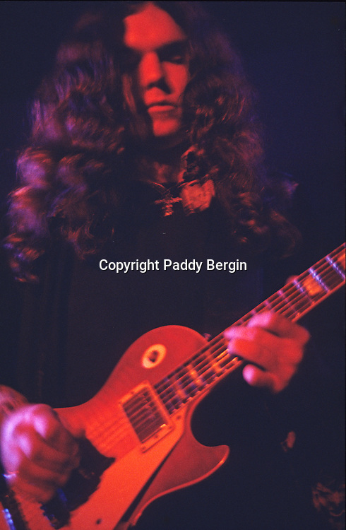 Gary Rossington guitarist with Lynyrd Skynrd, Dome Brighton 1974.<br /> <br /> Lynyrd Skynyrd is an American rock band best known for popularising the southern hard-rock genre during the 1970s.<br /> <br /> The band rose to worldwide recognition on the basis of its driving live performances and signature tunes &quot;Sweet Home Alabama&quot; and &quot;Free Bird&quot;. At the peak of their success, three members died in an airplane crash in 1977, putting an abrupt end to the band's most popular incarnation.<br /> <br /> Stock Photo by Paddy Bergin