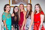 Workmens Rowing club crew that won the All Ireland u16 title at the Kerry Sports Star awards in the Malton Hotel on Friday night l-r: Siobhain Burns, Leona Browne, Ciara Moynihan, Ciara Browne and Kayla McCarthy