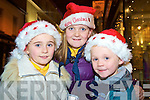 Enjoying the switching on of the Christmas lights in Killarney on Friday night were Emma, Sinead and Simon Coffey.