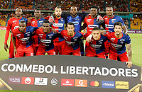 MEDELLIN-COLOMBIA, 18-02-2020: Jugadores de Deportivo Independiente Medellin (COL) posan para una foto, antes de entre Deportivo Independiente Medellin (COL) y Club Atletico Tucuman (ARG), por la Copa Conmebol Libertadores 2020 en el estadio Atanasio Girardot de la ciudad de Medellin./ Players of Deportivo Independiente Medellin pose for a photo, prior a match between Deportivo Independiente Medellin (COL) and Club Atletico Tucuman (ARG), for the Copa Conmebol Libertadores 2020 at the Atanasio Girardot stadium in Medellin city. / Photo: VizzorImage  / Donaldo Zuluaga / Cont.