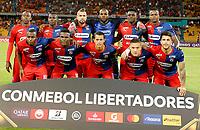 MEDELLIN-COLOMBIA, 18-02-2020: Jugadores de Deportivo Independiente Medellin (COL) posan para una foto, antes de entre Deportivo Independiente Medellin (COL) y Club Atletico Tucuman (ARG), por la Copa Conmebol Libertadores 2020 en el estadio Atanasio Girardot de la ciudad de Medellin./ Players of Deportivo Independiente Medellin pose for a photo, prior a match between Deportivo Independiente Medellin (COL) and Club Atletico Tucuman (ARG), for the Copa Conmebol Libertadores 2020 at the Atanasio Girardot stadium in Medellin city. / Photo: VizzorImage  / Donaldo Zuluaga / Cont.