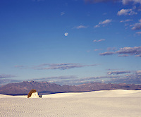 Moonset, White Sands National Monument, New Mexico.  Taken with a Mamiya RB67 Pro SD and 180mm lens on Fuji Provia 100 film.