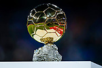 The Ballon d'Or Trophy is seen prior to the La Liga 2018-19 match between Real Madrid and Rayo Vallencano at Estadio Santiago Bernabeu on December 15 2018 in Madrid, Spain. Photo by Diego Souto / Power Sport Images