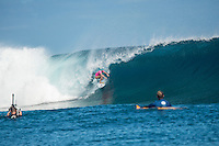 Namotu Island Resort, Nadi, Fiji (Monday, May 30 2016): Tatiana Weston-Webb (HAW) -The  2016 Fiji Women's Pro commenced at 9 am this morning in clean 3'-4' building swell at Cloudbreak. Rounds 2,3and 4  was completed as the swell built through the afternoon. There were strong Trade winds in the afternoon as well making the waves a bit choppy. Photo: joliphotos.com