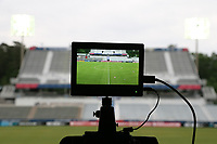 Cary, North Carolina  - Wednesday May 24, 2017: View from the east stand broadcast platform of Sahlen's Stadium prior to a regular season National Women's Soccer League (NWSL) match between the North Carolina Courage and the Sky Blue FC at Sahlen's Stadium at WakeMed Soccer Park. The Courage won the game 2-0.