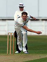 Matt Hunn bowls for Kent during the friendly game between Kent CCC and Surrey at the St Lawrence Ground, Canterbury, on Thursday Apr 5, 2018