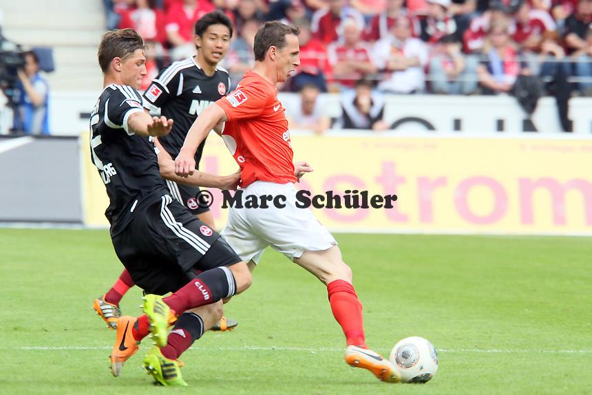 Zdenek Pospech (Mainz) gegen Hanno Balitsch (Nürnberg) - 1. FSV Mainz 05 vs. 1. FC Nürnberg, Coface Arena,