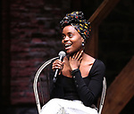"Denee Denton during the ""Hamilton"" eduHAM Student Matinee Q & A  at the Richard Rodgers Theatre on February 13, 2019 in New York City."