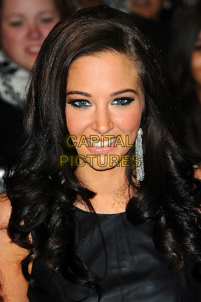 Tulisa Contostavlos.'The Twilight Saga: Breaking Dawn - Part 1' UK film premiere at Westfield Stratford City, London, England..16th November 2011.headshot portrait black silver earring.CAP/CJ.©Chris Joseph/Capital Pictures.