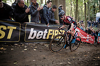 Best rider of the first cyclocross months, Eli Iserbyt (BEL/Pauwels Sauzen-Bingoal) on his way to yet another race win<br /> <br /> Elite & U23 Mens Race<br /> 42nd Superprestige cyclocross Gavere 2019<br /> <br /> ©kramon