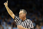 03 February 2013: Referee Brian Brunette. The University of North Carolina Tar Heels played the Duke University Blue Devils at Carmichael Arena in Chapel Hill, North Carolina in an NCAA Division I Women's Basketball game. Duke won the game 84-63.