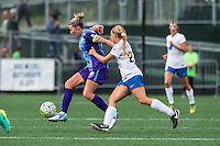 Allston, MA - Sunday July 31, 2016: Becky Edwards, Stephanie Verdoia during a regular season National Women's Soccer League (NWSL) match between the Boston Breakers and the Orlando Pride at Jordan Field.