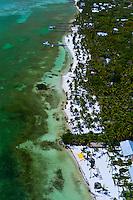 Aerial View, Beaches, Moorings Village and Cheeca Lodge (resorts),  Islamorada Key, Florida Keys, Florida USA