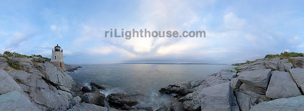 A Panoramic view of Castle Hill Lighthouse
