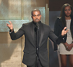 WASHINGTON, DC - JANUARY 24:  Honoree Kanye West speaks onstage during The BET Honors at the Warner Theatre on January 24, 2015 in Washington, D.C. Photo Credit: Morris Melvin / Retna Ltd.