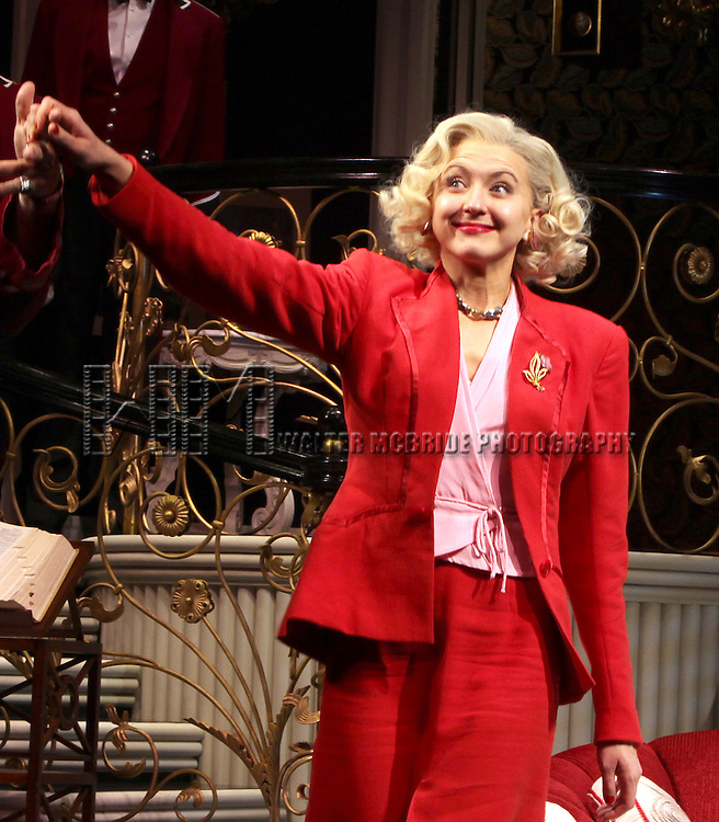 Nina Arianda.during the Broadway Opening Night Performance Curtain Call for 'Born Yesterday' in New York City.