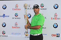 Alvaro Quiros (ESP) winner of the Dubai World Championship to Dubai on the final day of the DUBAI WORLD CHAMPIONSHIP presented by DP World, Jumeirah Golf Estates, Dubai, United Arab Emirates.Picture Denise Cleary www.golffile.ie