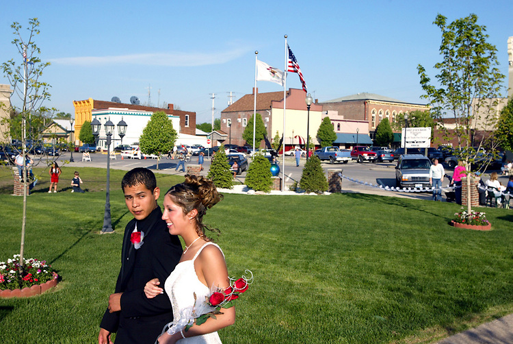 Tomas Alvarez Jr. came to Beardstown as a seventh grader and spoke no English. Now a college-bound football player, Alvarez wants to be an architect and live in a major U.S. city. He doesn't think there is a difference between being Mexican and being American. As a junior, he attended prom with Chelsie Carlton.