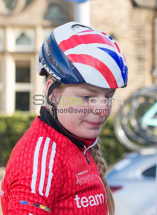 Picture by Allan McKenzie/SWpix.com - 30/04/2016 - Cycling - 2016 Asda Women's Tour de Yorkshire: Otley to Doncaster - Yorkshire, England - Team Breeze's Abigail Dentus.