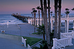 Morning light over the Oceanside Pier,+(longest wood pier on W. coast), Oceanside, San Diego County, CALIFORNIA