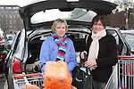 Cross Border Shoppers, Gwen Carr and Carmel Dunne load up their car at The Quays Shopping Centre, Newry...(Photo credit should read Jenny Matthews www.newsfile.ie)....This Picture has been sent you under the conditions enclosed by:.Newsfile Ltd..The Studio,.Millmount Abbey,.Drogheda,.Co Meath..Ireland..Tel: +353(0)41-9871240.Fax: +353(0)41-9871260.GSM: +353(0)86-2500958.email: pictures@newsfile.ie.www.newsfile.ie.