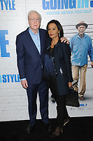 www.acepixs.com<br /> March 30, 2017  New York City<br /> <br /> Michael Caine (L) and wife Shakira Caine attending the 'Going In Style' New York Premiere at SVA Theatre on March 30, 2017 in New York City.<br /> <br /> Credit: Kristin Callahan/ACE Pictures<br /> <br /> <br /> Tel: 646 769 0430<br /> Email: info@acepixs.com