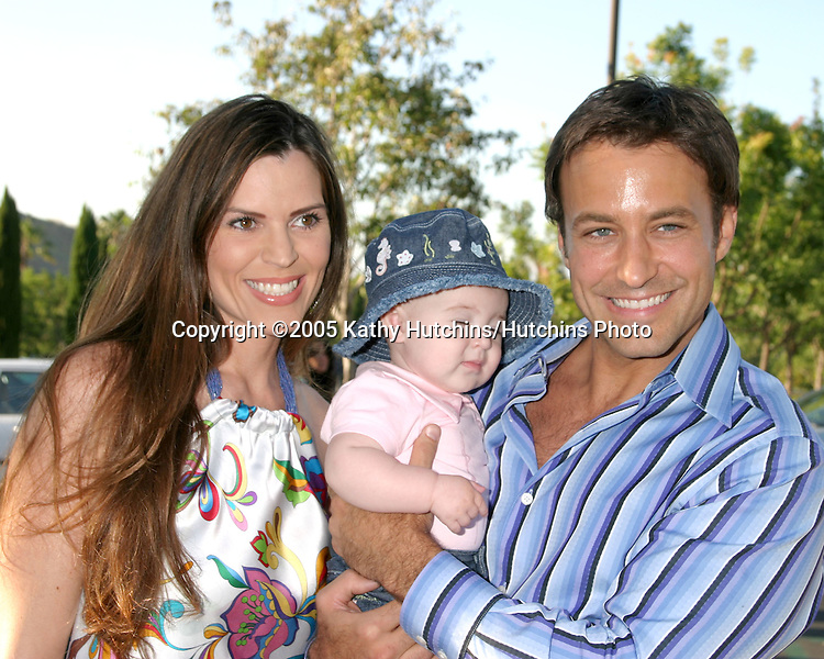 "Ty Treadway, wife Monica, daughter Samantha.""belle gray"" Boutique Opening.Calabasas, CA.June 30, 2005.©2005 Kathy Hutchins / Hutchins Photo"
