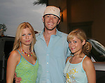 "Guiding Light's Stephanie Gatschet ""Tammy Winslow"", Tom Pelphrey ""Jonathan Randall"" and Marcy Rylan ""Lizzie Spaulding"" attend Mandy Bruno's birthday party on September 23, 2006 at Planet Hollywood, NYC, NY.  (Photo by Sue Coflin/Max Photos)"