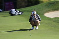 Nelly Korda (USA) on 16th green during Thursday's Round 1 of The Evian Championship 2018, held at the Evian Resort Golf Club, Evian-les-Bains, France. 13th September 2018.<br /> Picture: Eoin Clarke | Golffile<br /> <br /> <br /> All photos usage must carry mandatory copyright credit (© Golffile | Eoin Clarke)