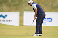Oliver Farr (WAL) on the 7th green during Round 2 of the Dubai Duty Free Irish Open at Ballyliffin Golf Club, Donegal on Friday 6th July 2018.<br /> Picture:  Thos Caffrey / Golffile