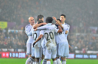 swansea...sport..swansea v aston villa...friday 26th december 2014...<br /> <br /> <br /> Swansea's Gylfi Sigurdsson celebrating his goal