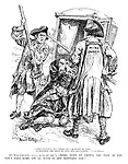 """Stout fellows! But prone, on a question of fare, to brandish the poles of that old sedan-chair.""- Austin Dobson. Old King Coal (who ""WAS a merry old soul""). ""Here, mind my crown, you two. If you don't take care you'll have it off between you!"""