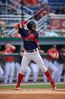 Lowell Spinners Nicholas Northcut (24) at bat during a NY-Penn League game against the Batavia Muckdogs on July 11, 2019 at Dwyer Stadium in Batavia, New York.  Batavia defeated Lowell 5-2.  (Mike Janes/Four Seam Images)