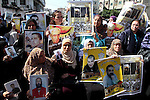 Palestinians attend a protest calling for the release of Palestinian prisoners from Israeli jails , in Gaza City on October 11, 2010. About 7,500 Palestinian prisoners are held in Israeli jails, according to the Palestinian Prisoners Association Waed . Photo by Ashraf Amra