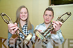 Mairead O'Donoghue and Michael Coffey who received Player of the Year awards at the Legion juvenile awards night in the clubhouse in Direen, Killarney on Friday night.