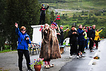 Local fans at the roadside during Stage 4 of the 2018 Artic Race of Norway, running 145.5km from Kvalsund to Alta, Norway. 18th August 2018. <br /> <br /> Picture: ASO/Gautier Demouveaux | Cyclefile<br /> All photos usage must carry mandatory copyright credit (&copy; Cyclefile | ASO/Gautier Demouveaux)