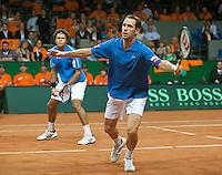 19-9-09, Netherlands,  Maastricht, Tennis, Daviscup Netherlands-France, Dubbles Tsonga en Llodra