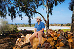 """Daron """"Farmer D"""" Joffe, Director Of Agricultural Innovation And Development at Leichtag Foundation & Farmer D Consulting, at the Leichtag Foundation Farm in Encinitas, California, on Friday, February 27, 2015."""