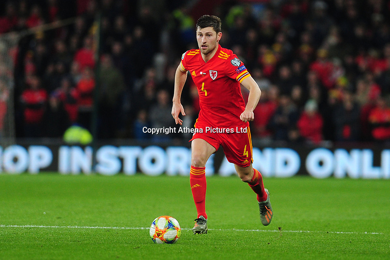 Ben Davies of Wales in action during the UEFA Euro 2020 Group E Qualifier match between Wales and Hungary at the Cardiff City Stadium in Cardiff, Wales, UK. Tuesday 19th November 2019