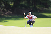 Mackenzie Hughes (CAN) on the 12th green during Thursday's Round 1 of the 2017 PGA Championship held at Quail Hollow Golf Club, Charlotte, North Carolina, USA. 10th August 2017.<br /> Picture: Eoin Clarke | Golffile<br /> <br /> <br /> All photos usage must carry mandatory copyright credit (&copy; Golffile | Eoin Clarke)