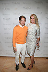 Interior Designer Michael Arguello and Evelyn Anastos, Attend Theia Spring 2014 Presentation Held at the New York Palace, NY